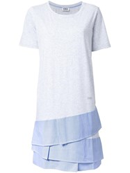 Sonia Rykiel By Layered T Shirt Dress Grey