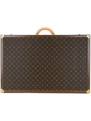 Louis Vuitton Vintage Monogram 'Alzer 70' Suitcase Brown