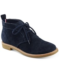 Tommy Hilfiger Blaze Lace Up Oxford Booties Women's Shoes Navy