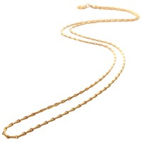 Mirabelle Mini Torsade Chain Necklace Gold