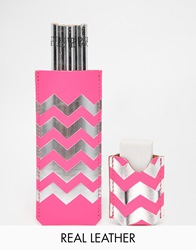 Undercover Chevron Pencil Pouch And Rubber Set Pi1pink1