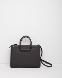 The Row Classic 5 Top Handle Satchel Black