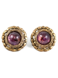 Chanel Vintage Amethyst Centre Earrings Pink And Purple