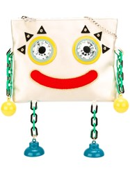 Charlotte Olympia Robot Clutch Nude And Neutrals