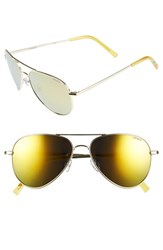 Women's Polaroid Eyewear 56Mm Polarized Aviator Sunglasses