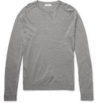Balenciaga Wool Silk And Cashmere Blend Sweater Gray