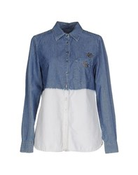 Roy Rogers Roy Roger's Denim Denim Shirts Women Blue