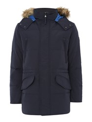 Puffa Men's George Down Filled Parka Navy
