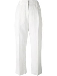 Mcq By Alexander Mcqueen Cropped Trousers White