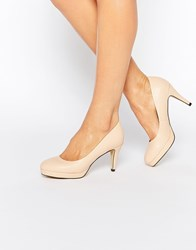Oasis Platform Court Shoes Nude Pink