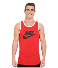 Nike Ace Logo Tank Top University Red Black White Men's Sleeveless