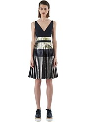 Pre Ss16 Proenza Schouler Long Foil Pleated Dress