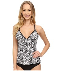 Lole Muara Tankini Top Black Wallflower Women's Swimwear