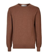 Gieves And Hawkes Cashmere Crew Neck Jumper Male Brown