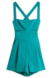 Elie Saab Stretch Cady Playsuit Green