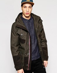 Puffa Aiden Hooded Jacket Brown Black