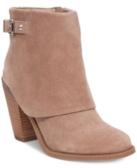 Jessica Simpson Caralyne Buckle Booties A Macy's Exclusive Style Women's Shoes Totally Taupe
