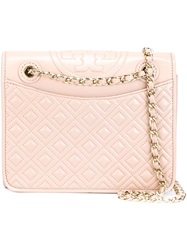 Tory Burch 'Fleming' Quilted Shoulder Bag Pink And Purple