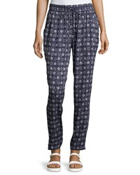 Laundry By Shelli Segal Relaxed Fit Floral Print Pants Inkblot