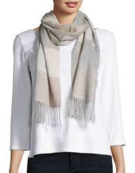 Lord And Taylor Plaid Cashmere Scarf White