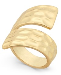 Inc International Concepts Gold Tone Hammered Metal Bypass Ring Only At Macy's
