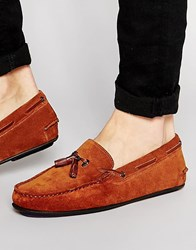 Ted Baker Muddi Suede Tassel Loafers Brown