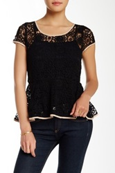 Ryu Crochet Bow Detail Blouse Black
