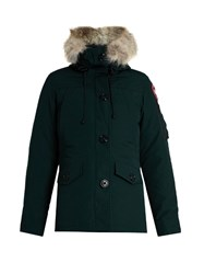 Canada Goose Montebello Fur Trimmed Down Coat Green