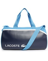 Lacoste Navy Blue Dual Fabric Sports Bag