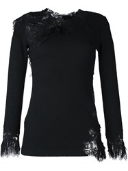 Ermanno Scervino Lace Detail Jumper Black