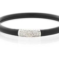 Budhagirl Black All Weather Bangles Silver