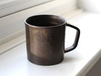Black Angled Handle Mug By Kana Tozuka Oen Shop