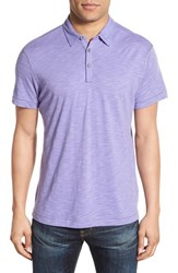 Men's Robert Barakett 'Chester' Slub Knit Polo Light Lavander