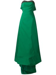 Carolina Herrera Strapless Gown Green