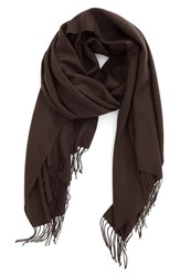 Nordstrom Women's Tissue Weight Wool And Cashmere Scarf Brown Bean