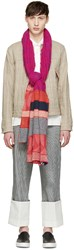 Junya Watanabe Multicolor Knit Patchwork Scarf