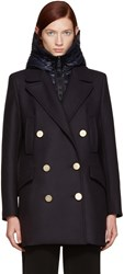 Moncler Navy Galatea Peacoat
