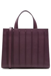 Max Mara Leather Tote Purple