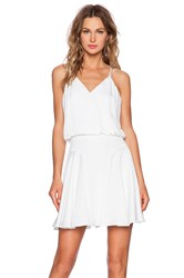 Milly Silk Crepe Tank Dress White