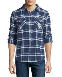 Superdry Plaid Flannel Button Front Shirt Atlantic Check