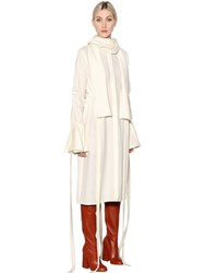 Ellery Smoked Stretch Cady And Crepe Dress