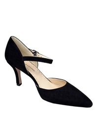 Adrienne Vittadini Jon Suede Ankle Strap Pumps Black Suede