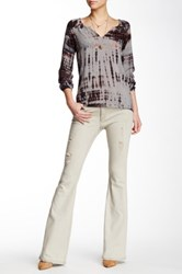 Lee Cooper Angie Mid Rise Flare Jean Beige