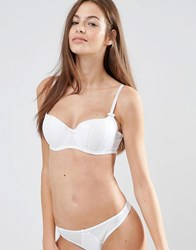 Pour Moi Signature Padded Balcony Bra White