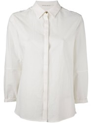 Individual Sentiments Concealed Fastening Shirt Nude And Neutrals
