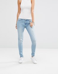 Noisy May Lucy Ripped Jeans 32'' Light Wash Blue