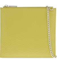 Whistles Perry Bubble Leather Chain Clutch Yellow