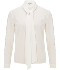 Austin Reed Ivory Lace Sleeve Blouse