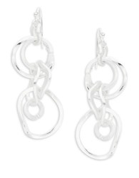 Design Lab Lord And Taylor Chainlink Drop Earrings Silver