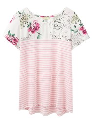 Joules Suzy Jersey T Shirt Pink Sherbet Stripe